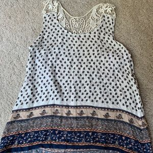 Like New Paisley Tank with Lacey Racerback